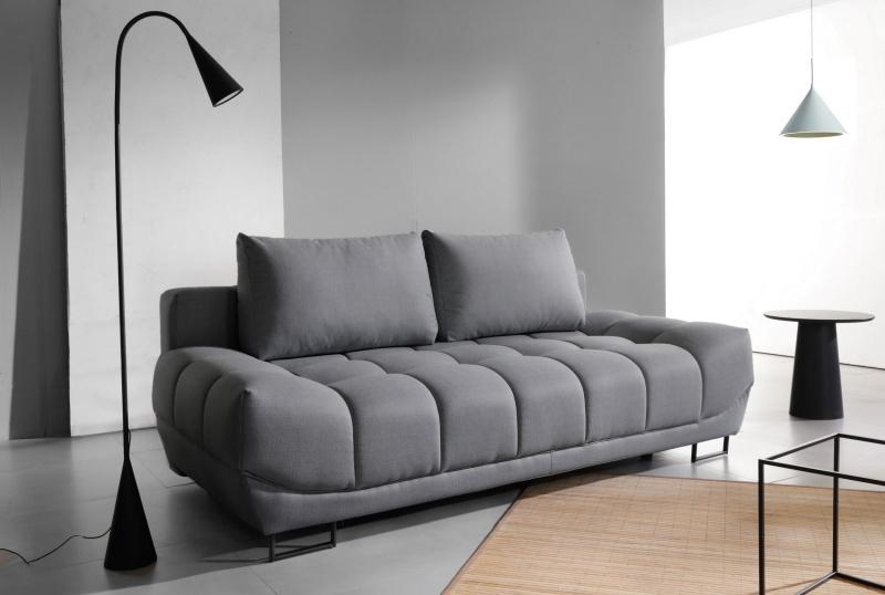Canapea extensibila cu lada de depozitare 3 locuri Venice Grey