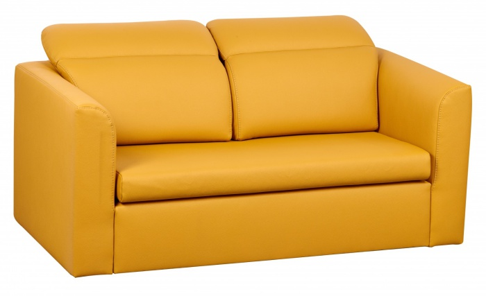 Canapea extensibila tapitata 2 locuri Inez Yellow