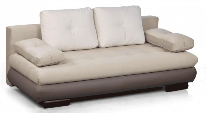 Canapea extensibila tapitata cu stofa 3 locuri Luore Beige