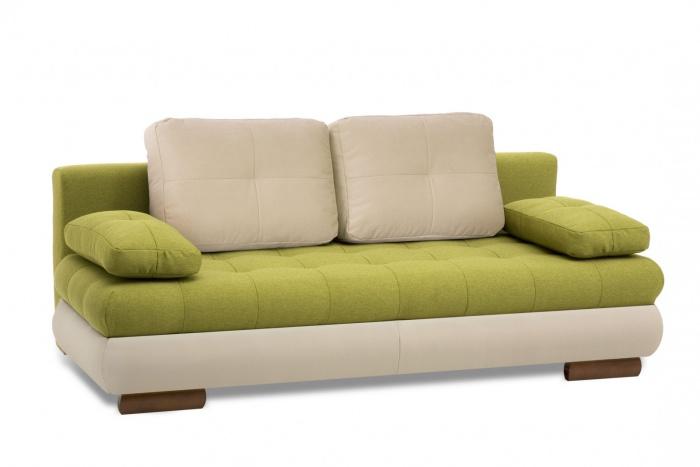 Canapea extensibila tapitata cu stofa 3 locuri Luore Green