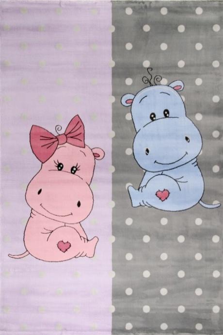 Covor pentru copii Junior Hippo Multicolor