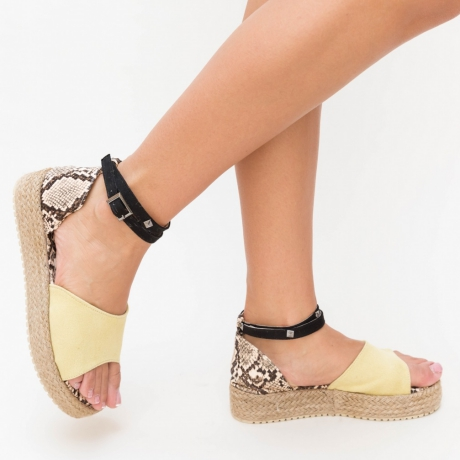 Sandale Aloma Galben