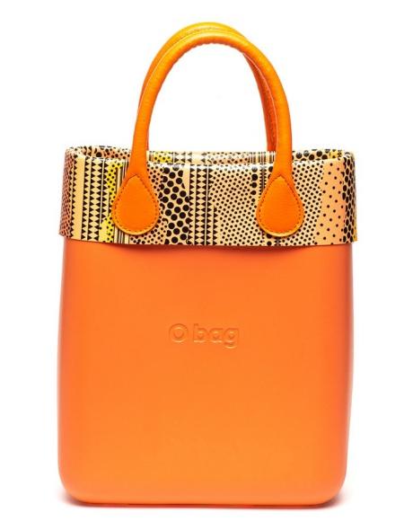 O bag Geanta de mana cu garnitura cu imprimeu geometric si etui interior O-Chic