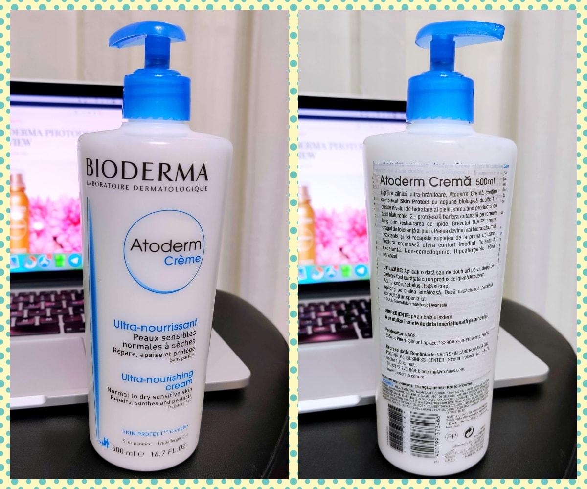 crema de corp Bioderma Atoderm review si pareri-min