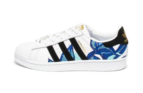 Adidas ORIGINALS Pantofi sport de piele cu garnituri brodate Superstar