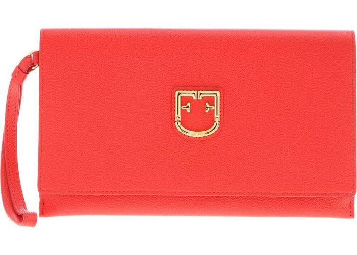 Furla Belvedere Clutch Bag In Red