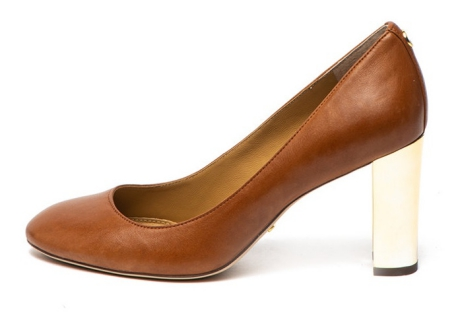 Lauren Ralph Lauren Pantofi de piele cu toc masiv Maddie