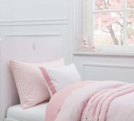 Lenjerie de pat copii bumbac Pure Roz