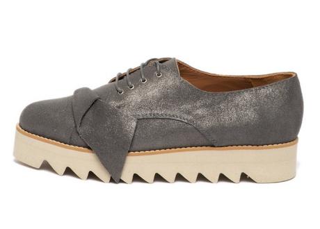 Mihaela Glavan Pantofi flatform de piele, cu varf ascutit