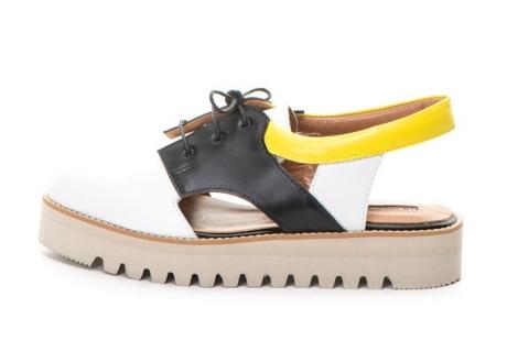 Mihaela Glavan Pantofi slingback de piele cu talpa plata