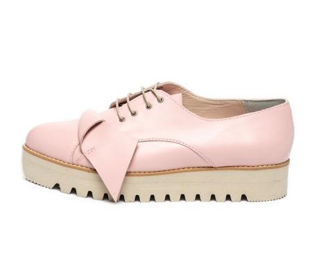 Mihaela Glavan Pantofi wedge de piele