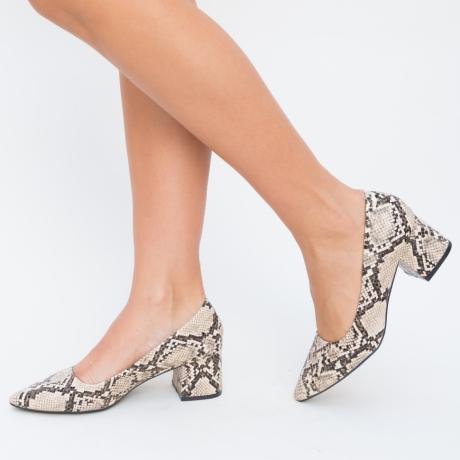 Pantofi Carisa Camel