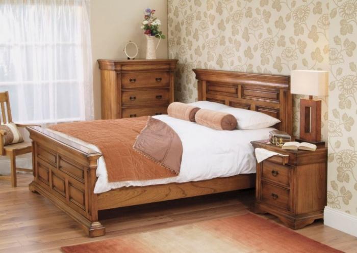 Set Mobila Dormitor din lemn de stejar Valentino Oak