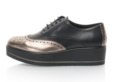 Tosca Blu Pantofi flatform de piele Cimone