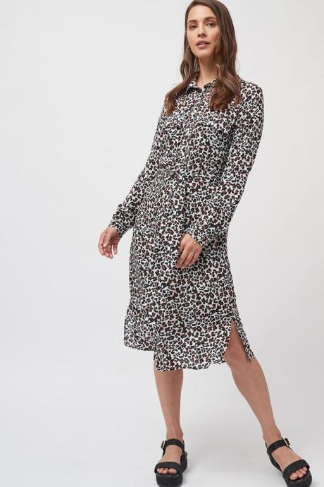NEXT Rochie tip camasa din modal, cu animal print