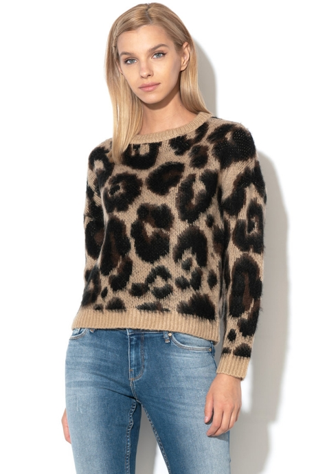 Only Pulover cu animal print Ranja