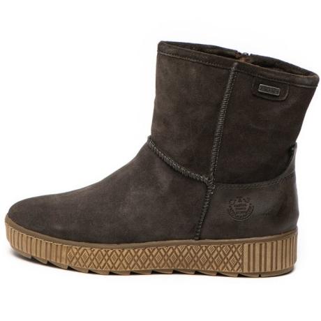 Jana Shoes Ghete de piele intoarsa cu fermoar lateral