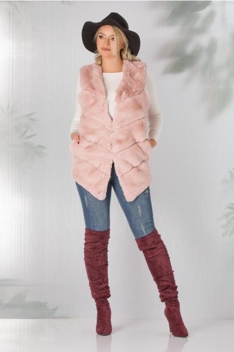 Vesta Dorina roz prafuit din blanita ecologica