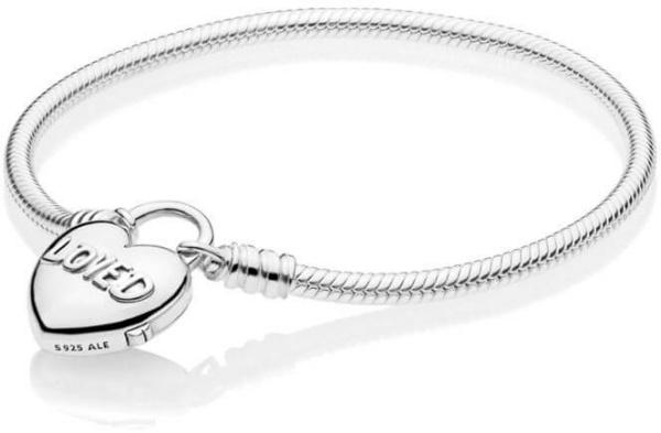 Brățară de argint cu inima 597806