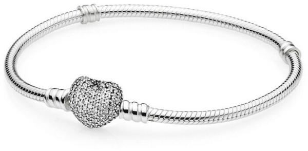 Brățară din argint Inimă cu cristale clare 590727CZ
