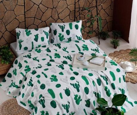 Lenjerie de pat Double Pique Kaktus Green