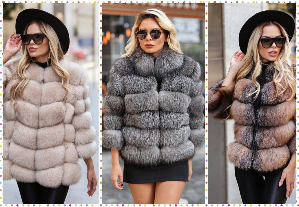 haine si veste blana naturala de vulpe pentru femei-min