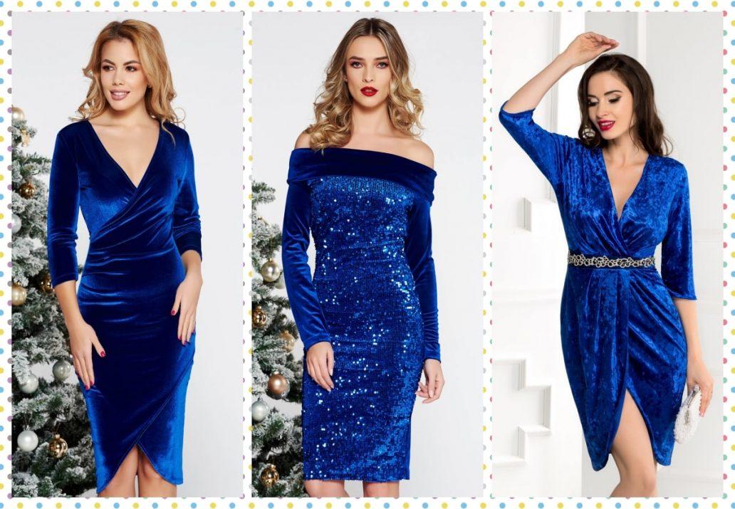 rochii albastru regal Revelion 2020-min