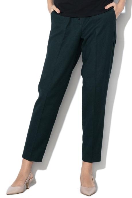 Esprit Pantaloni crop cu snur pentru ajustare