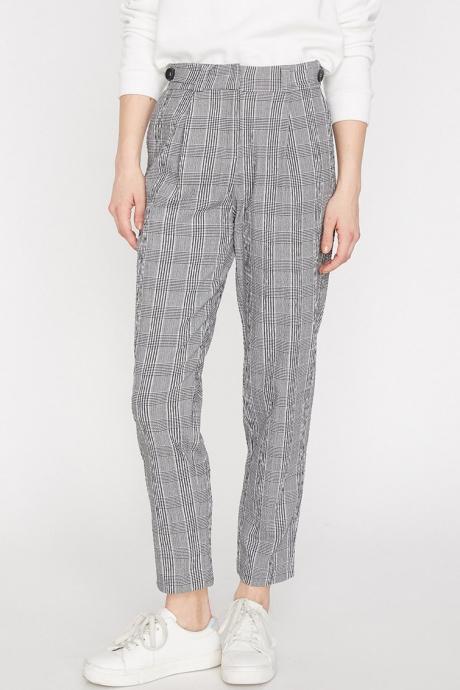 KOTON Pantaloni drepti cu model in carouri