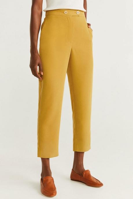 Mango Pantaloni drepti din amestec de modal Tempo
