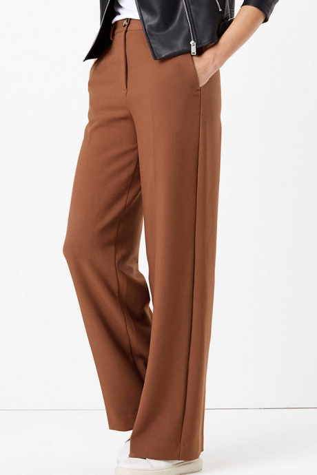 Marks & Spencer Pantaloni cu croiala ampla si talie inalta