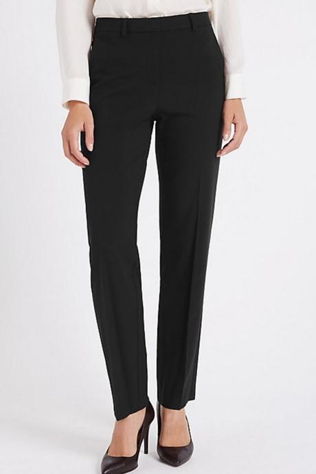 Marks & Spencer Pantaloni cu croiala dreapta si pensa