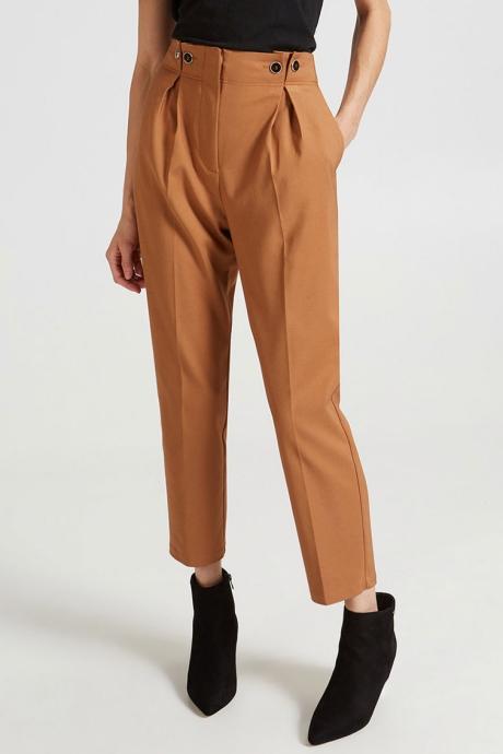 Motivi Pantaloni conici, cu talie inalta