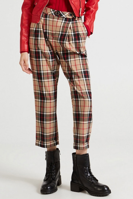 Motivi Pantaloni conici in carouri