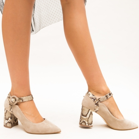 Pantofi Arona Bej