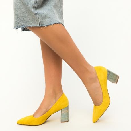 Pantofi Ferne Galbeni