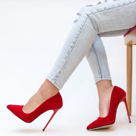 Pantofi Groove Rosii