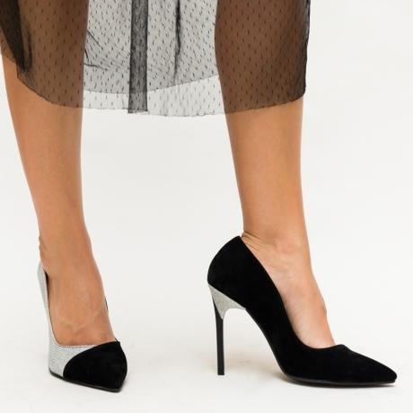 Pantofi Plix Argintii