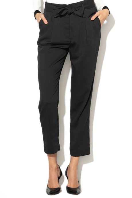 Silvian Heach Collection Pantaloni crop cu cordon detasabil in talie Talai