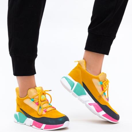 Pantofi Sport Orna Galbeni