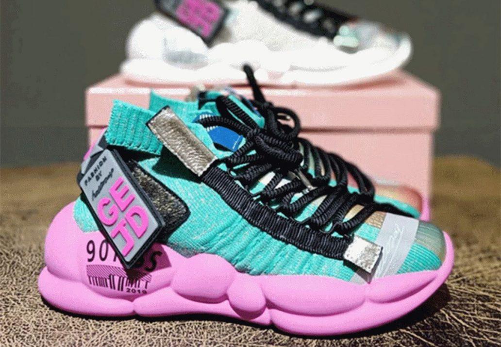 pantofi sport cu platforma pentru femei