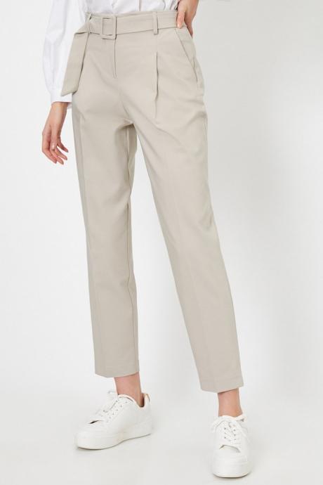 KOTON Pantaloni crop cu detaliu cu curea