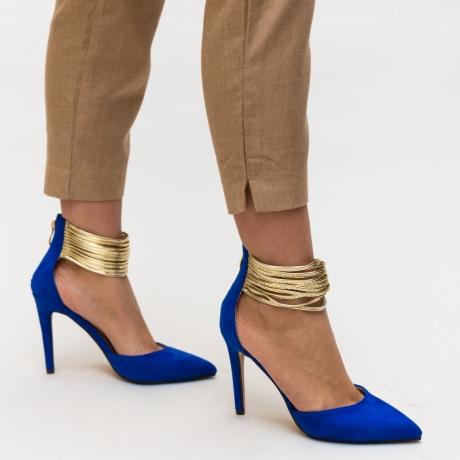 Pantofi Kaia Albastrii
