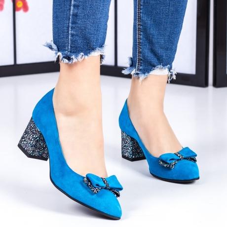 Pantofi cu toc Piele albastri Rolivia-rl