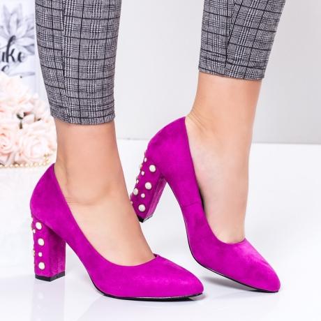 Pantofi cu toc dama mov Enorila-rl