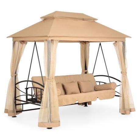 Pavilion cu leagan 3 locuri si functie pat DAMARIS