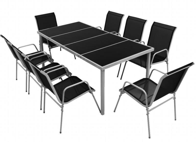 Set Mobila gradina 9 piese, masa si scaune