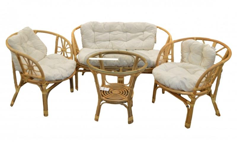 Set masa cu 2 scaune si canapea, Natur