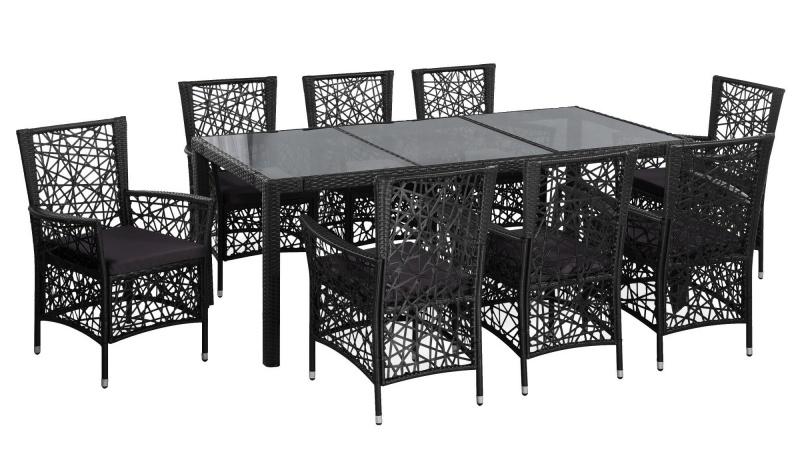 Set mobilier de exterior cu masa si scaune vidaXL