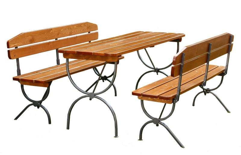 Set mobilier gradina LINZ lemn lacuit